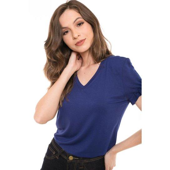 6f0f1213a Camiseta Daniela Cristina Manga com Babado Feminina - Compre Agora ...