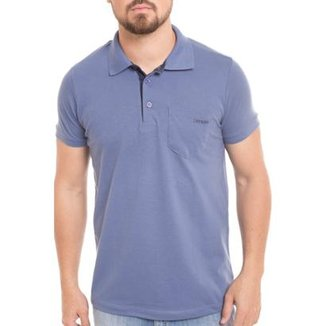 37616882a6 Camisa Polo Osmoze Bolso Com Estampa Indigo Masculina