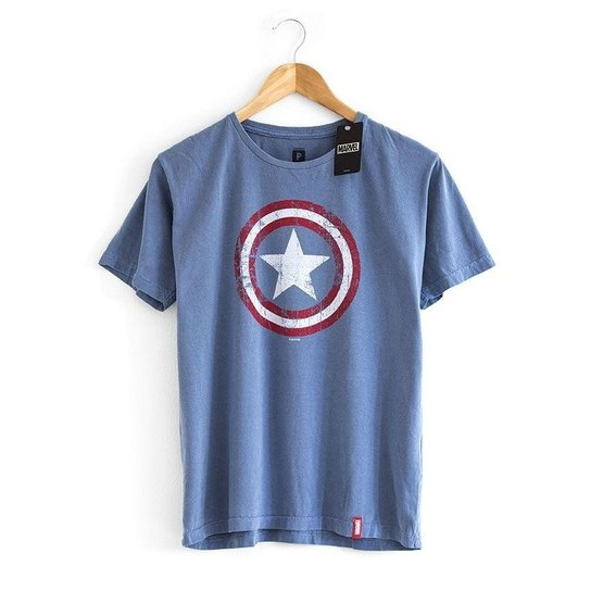 Camiseta Escudo Capitão América Marvel - Compre Agora  31a0e146a5606