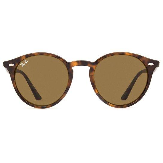 06caec1ad5ce7 Óculos de Sol Ray Ban Round RB2180 710 73-49 Feminino - Compre Agora ...