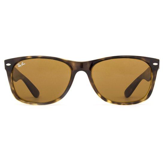 8d70e440f85a4 Óculos de Sol Ray Ban New Wayfarer Classic RB2132LL 710-55 Feminino - Onça
