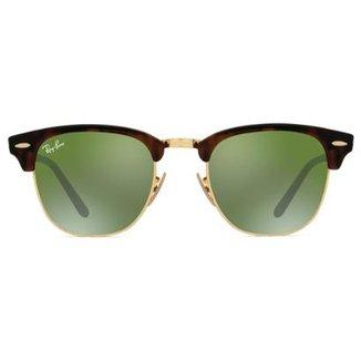 af3710962 Óculos de Sol Ray Ban Clubmaster Flash RB3016 990/9J-51 Feminino