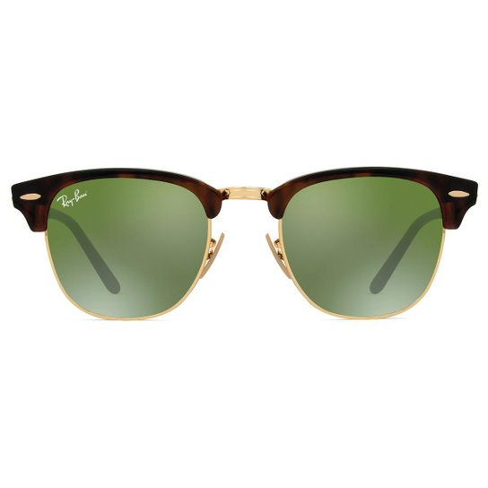 Óculos de Sol Ray Ban Clubmaster Flash RB3016 990 9J-51 Feminino - Onça bed8a31a20