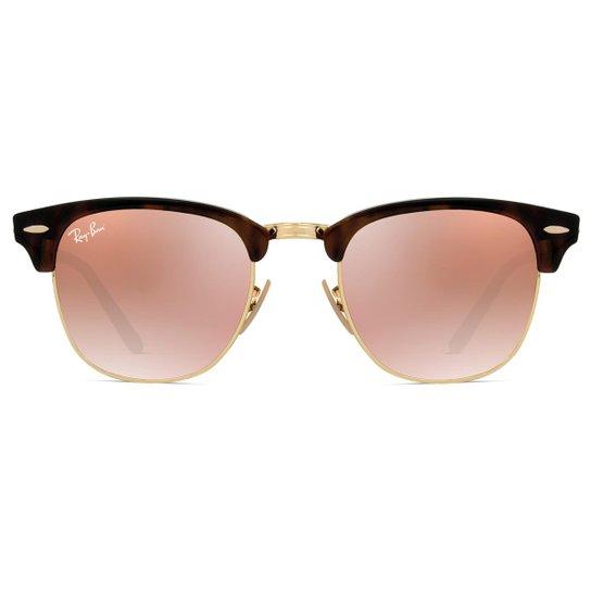 313a19206939e Óculos de Sol Ray Ban Clubmaster Flash RB3016 990 7O-51 Feminino - Onça