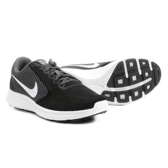 efe81c46aef Tênis Nike Revolution 3 Feminino - Preto+Off White