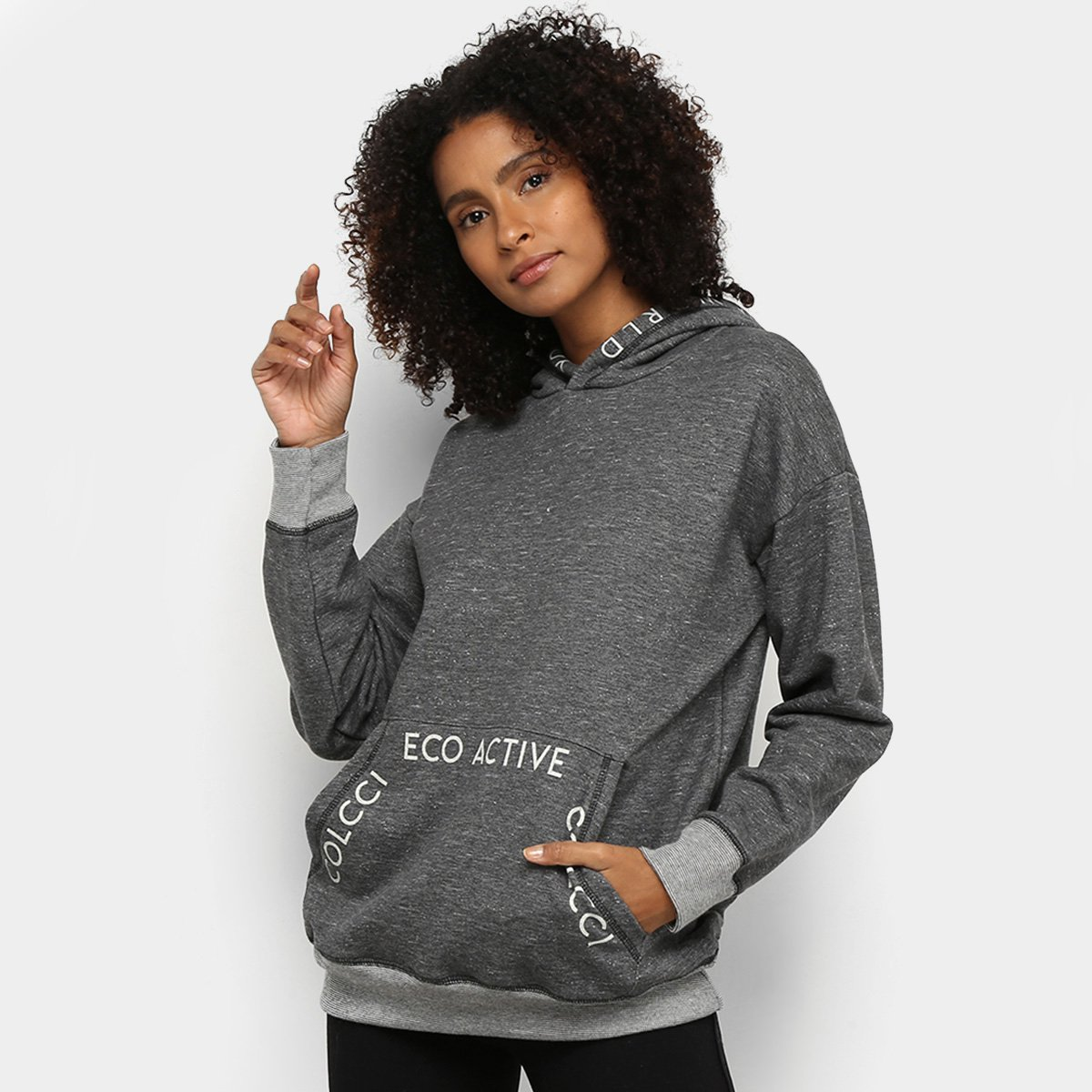 Moletom Colcci Fitness Capuz Eco Active Feminino