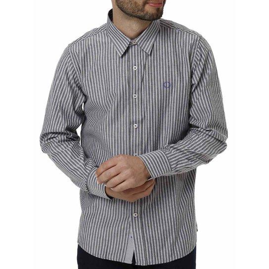 Camisa Manga Longa Masculina - Cinza - Compre Agora  505b57f5b10