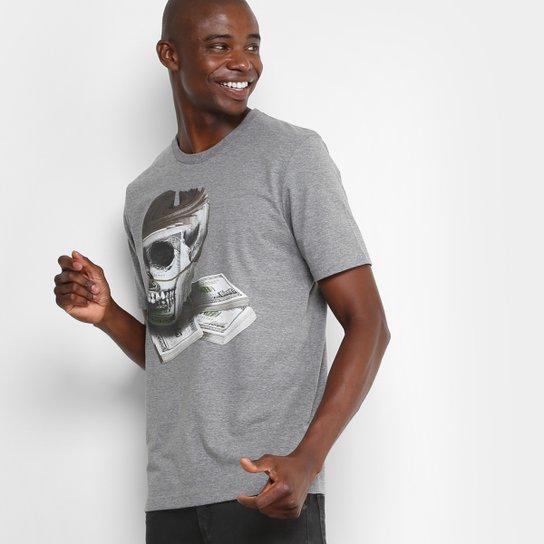 Camiseta Lost Skull Money Básica Masculina - Cinza - Compre Agora ... bca49599cdca0