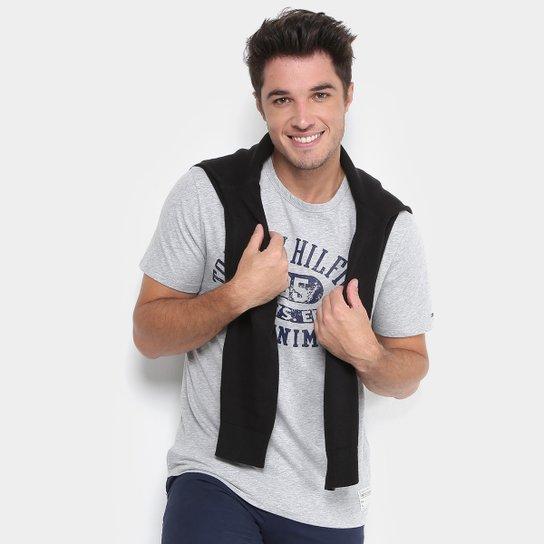 42d5fd6c26ef6 Camiseta Tommy Hilfiger Estampada Denim Masculina - Compre Agora ...