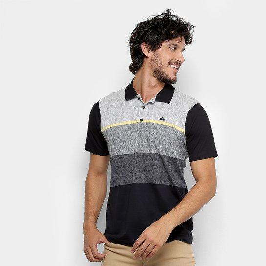 Camisa Polo Quiksilver Jacquard Masculina - Cinza - Compre Agora ... f41cff82651