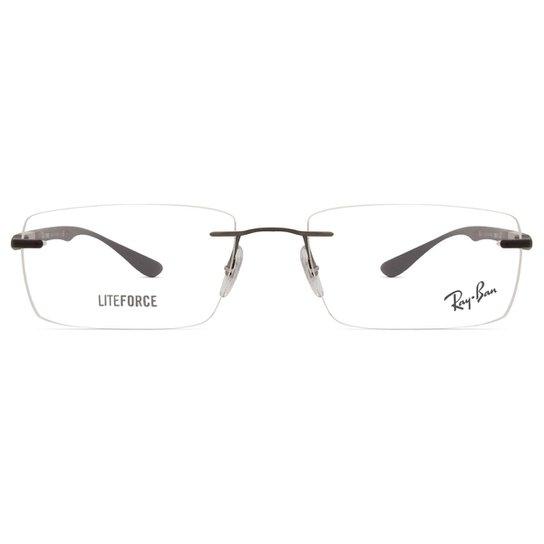 427839a6af395 Armação Óculos de Grau Ray Ban RX8724 1128-56 - Cinza - Compre Agora ...