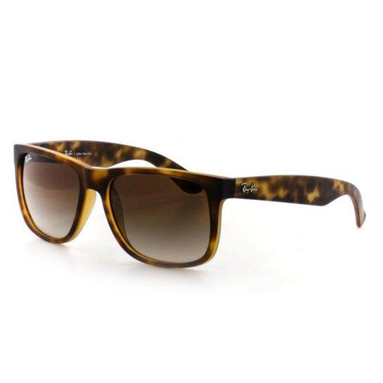 afccdd149d03d Óculos De Sol Ray Ban 4165 T 55 C 710 13 Justin - Verde escuro ...