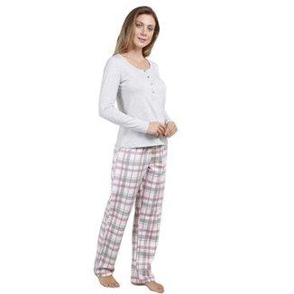 Pijama Inspirate Feminino com Polo e Calça Feminino 7617a9f2041f6