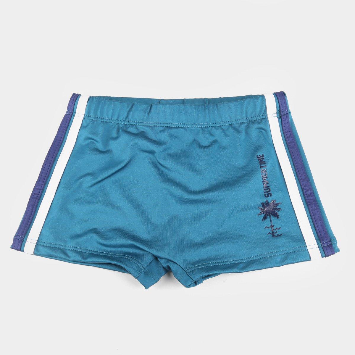 Sunga Infantil Hering Proteção UV 50+ Boxer