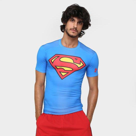 eaaf87ed2 Camiseta de Compressão Under Armour Superman Masculina - Azul Royal ...