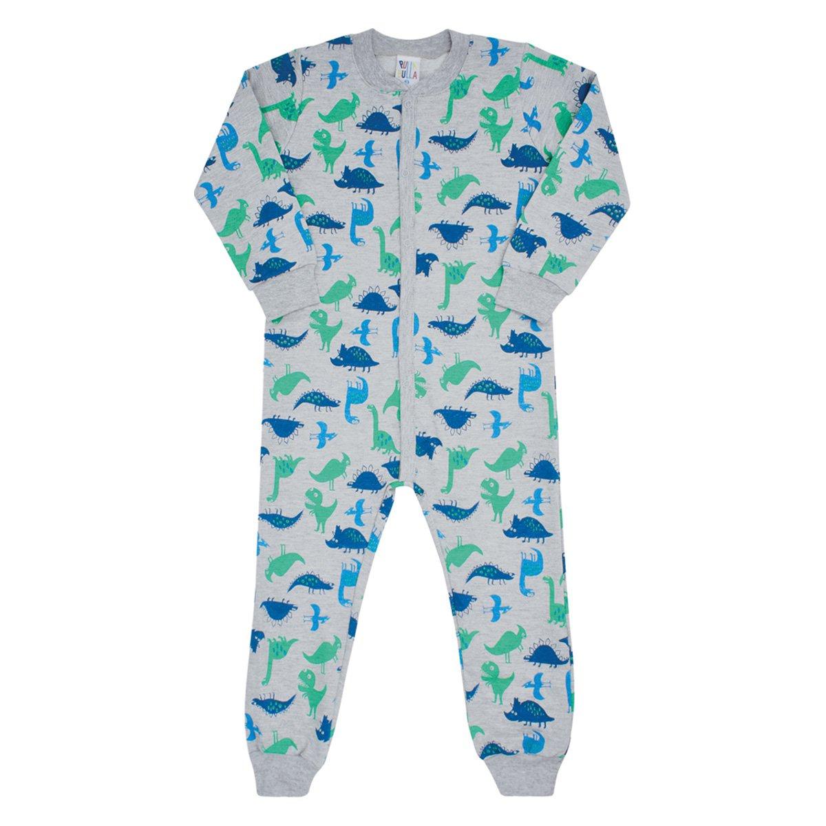 Pijama Bebê Macacão Pulla Bulla Dino Masculino