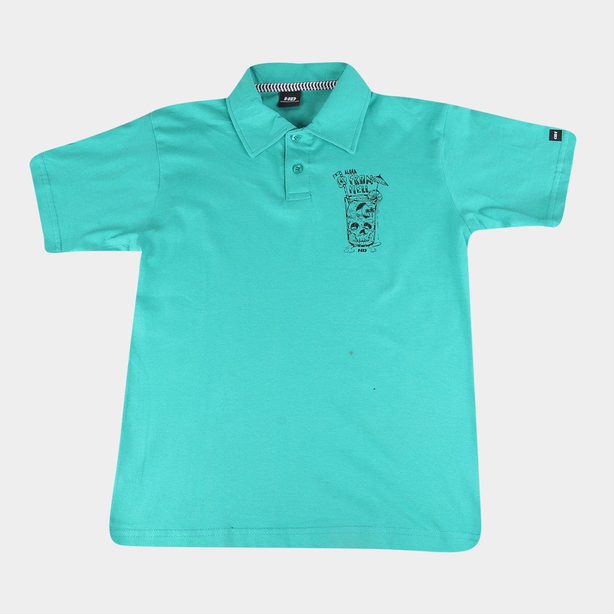 Camisa Polo Infantil HD Aloha Masculina