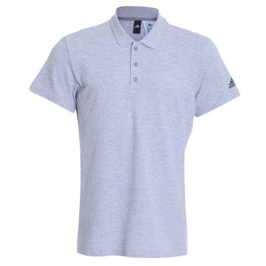 2b897d65f Camisa Polo Adidas Essentials Básica Masculina - Cinza - Compre ...