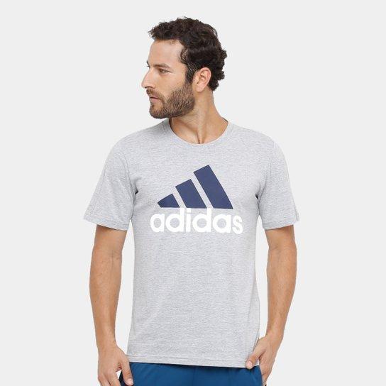 c5e02e175f Camiseta Adidas Essentials Linear Masculina - Cinza - Compre Agora ...