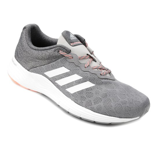 0cbcbb8e9af Tênis Adidas Fluid Cloud Feminino - Cinza e Branco - Compre Agora ...