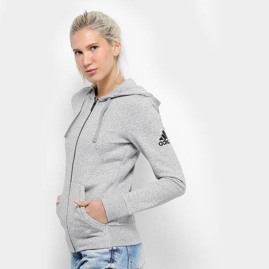 Jaqueta Adidas Ess Solid Fz Feminina - Compre Agora   Zattini 9eb600de2f