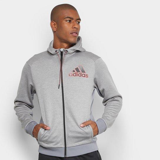 b92f099e7 Jaqueta Adidas Comm G Fz Masculina - Cinza - Compre Agora