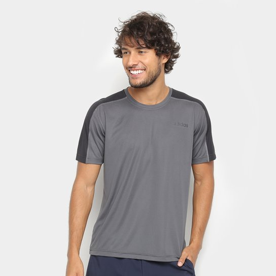 a2e0a0db02b13 Camiseta Adidas D2M Masculina - Cinza - Compre Agora