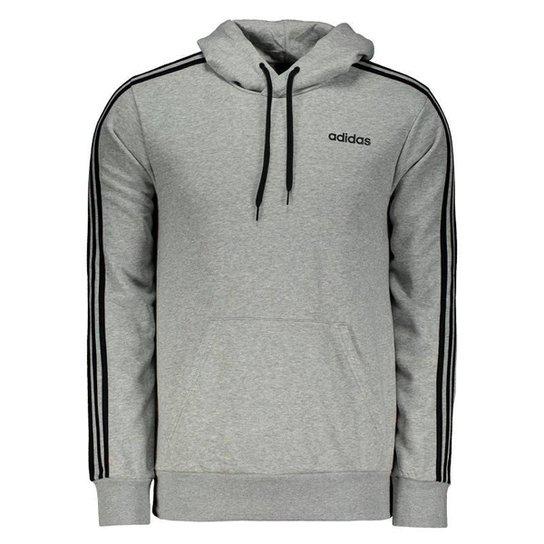 009b69b92 Moletom Adidas Essentials 3 Stripes - Cinza - Compre Agora