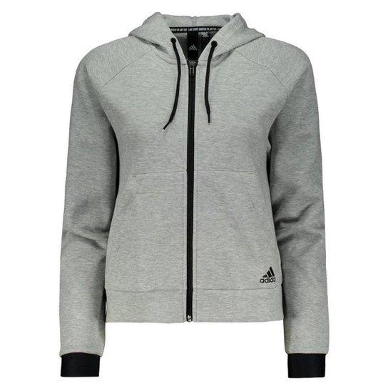 Jaqueta Adidas Hoodie - Cinza - Compre Agora   Zattini caf04c65f0