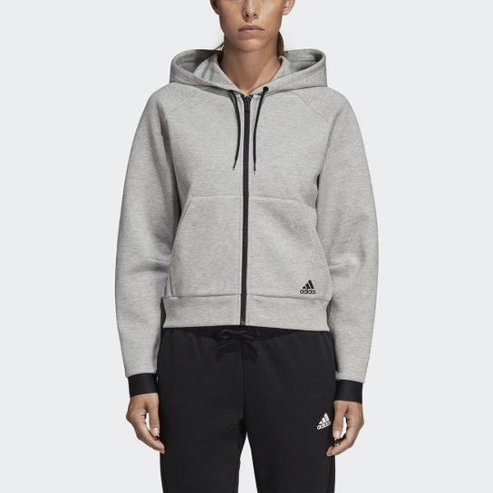 f495378ee51 Jaqueta Adidas Must Haves C  Capuz Feminina - Cinza - Compre Agora ...