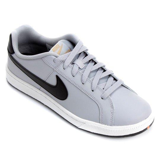 Tênis Couro Nike Court Royale Masculino - Cinza - Compre Agora  1a5daa29bc1b7