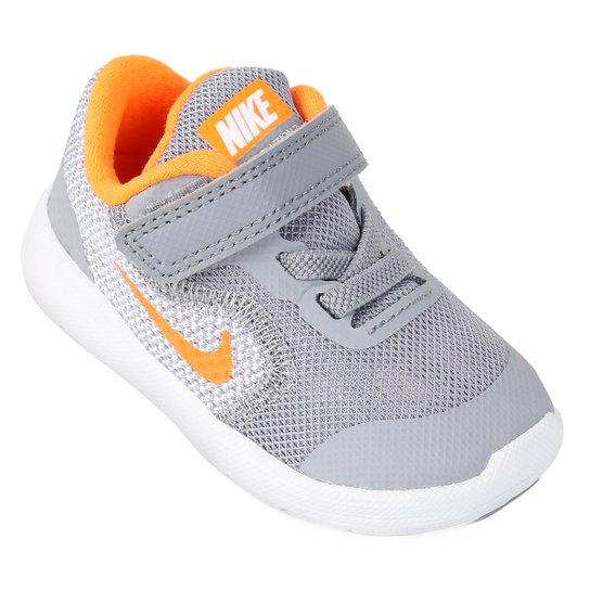 2cfd4b05a2f Tênis Infantil Nike Revolution 3 - Cinza - Compre Agora