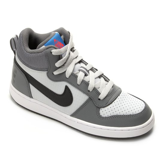 18d786daf0645 Tênis Infantil Nike Court Borough Mid Masculino - Cinza - Compre ...