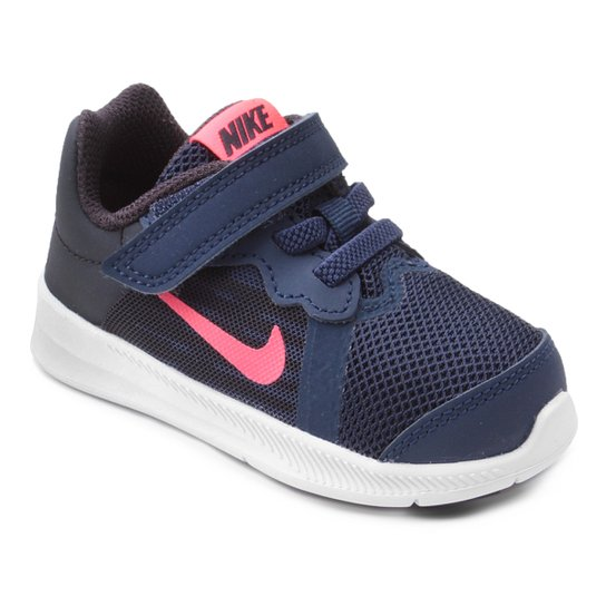63b30acb0027b Tênis Infantil Nike Downshifter 8 Gtv Com Velcro Feminino - Azul ...