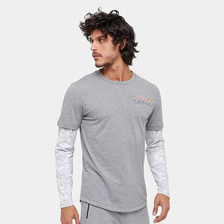 Camiseta Puma Style Tec Baseball Manga Longa · Conferir. Camiseta Puma Red  Bull Racing LS Allover Manga Longa Masculina 2093455193c