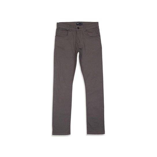 ddbe8ee57 Calça Oakley 5 Pockets Slim Fit 2.0 Masculina - Cinza   Zattini