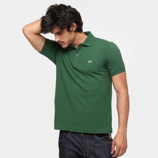 85dbf48dc9b5d Camisa Polo Lacoste Original Fit Masculina - Verde Militar - Compre ...