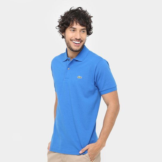 ae5d7f76e6389 Camisa Polo Lacoste Piquet Original Fit Masculina - Azul Royal ...