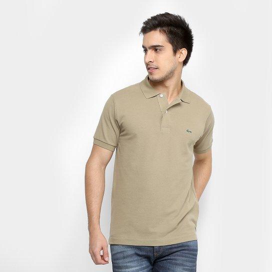 Camisa Polo Lacoste Piquet Original Fit Masculina - Verde escuro ... a42511b558990