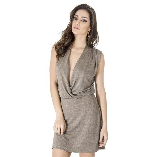Vestido Cache Coeur Calvin Klein - Cinza - Compre Agora   Zattini 994ff3a92f