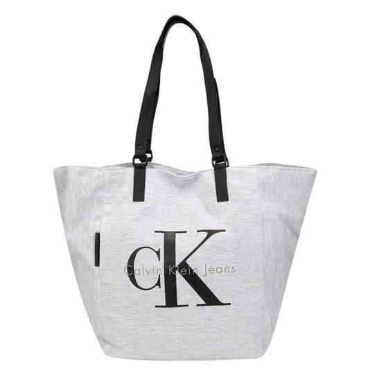 Bolsa Calvin Klein Shopper Moletom Logo - Compre Agora   Zattini 1087cc2a86
