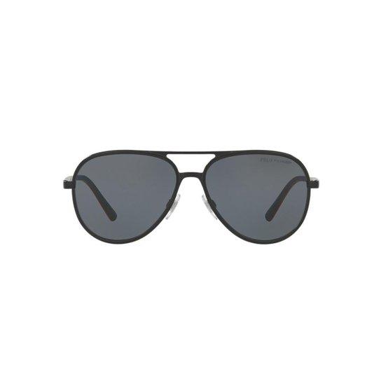 2228f766fdbeb Óculos de Sol Polo Ralph Lauren Piloto PH3102 Masculino - Cinza ...