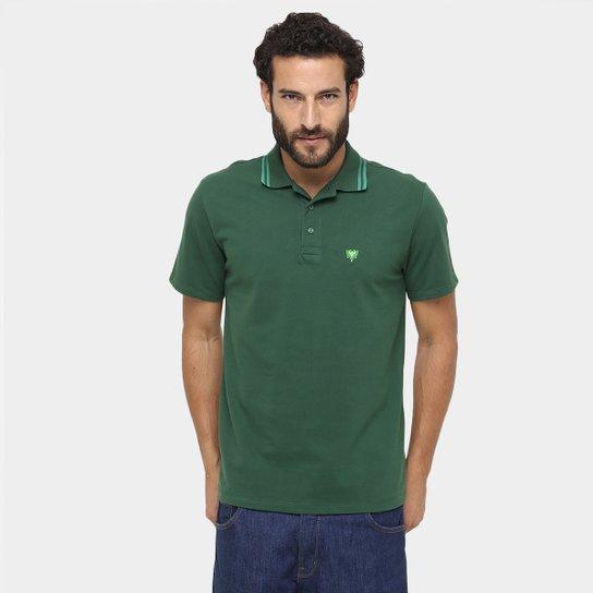 Camisa Polo Cavalera Básica Bordado Masculina - Verde escuro ... 8fdf1adef9e37