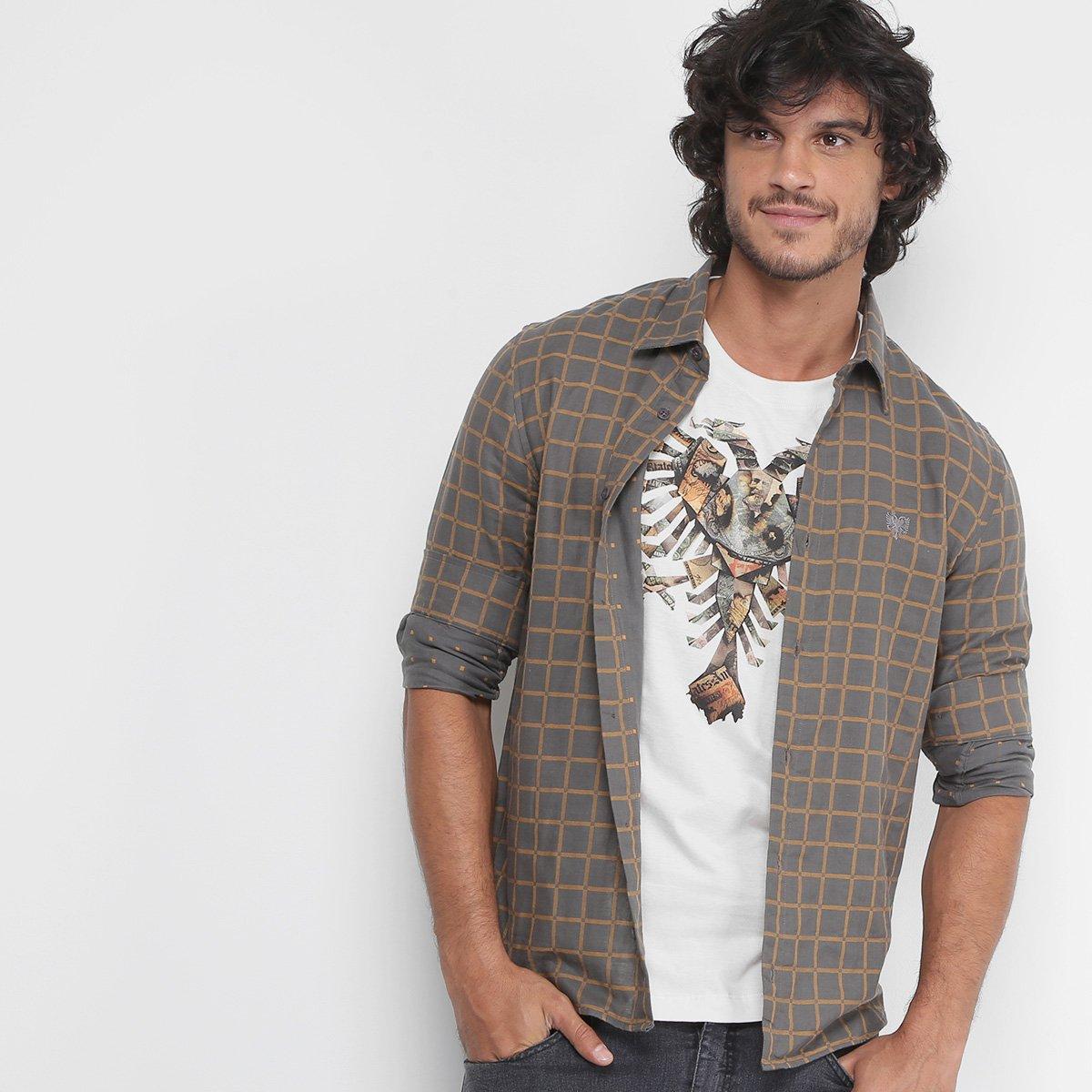 Camisa Xadrez Cavalera Estampa Interna Masculina f26fbc1201ac2