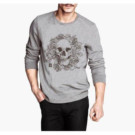 Moletom Cranio Flores - Compre Agora  8bf08569728