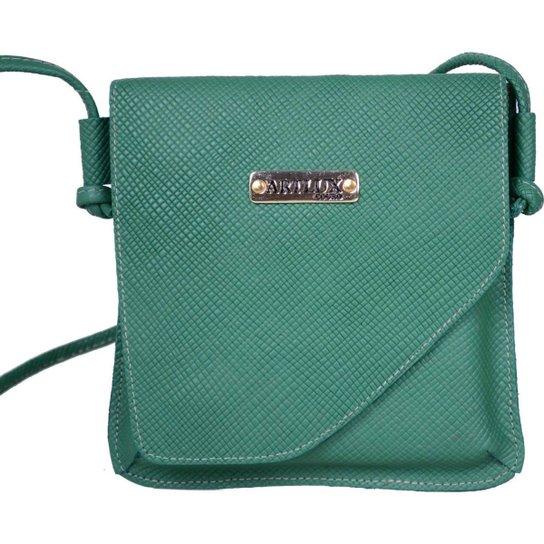7e511d5a1 Bolsa Transversal de Couro - Verde escuro | Zattini