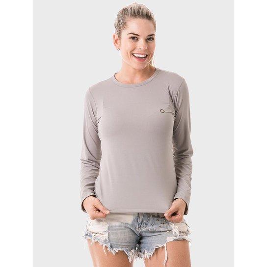 2966e69a98 Camiseta com Proteção Solar Manga Longa Extreme UV Ice - Cinza ...