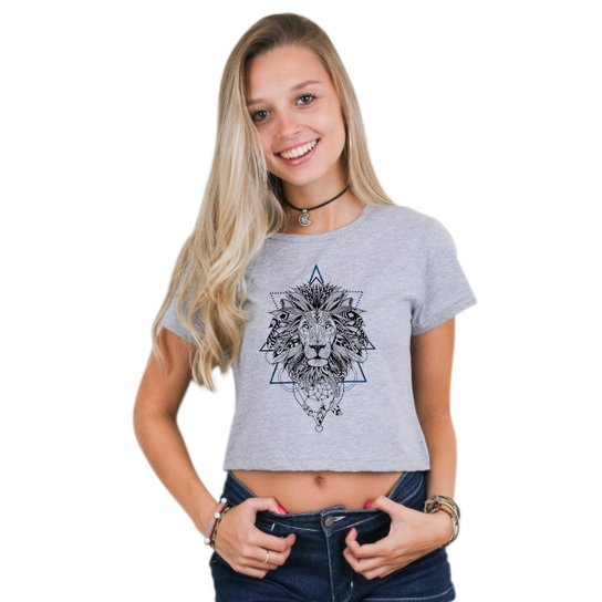 b43a54e57 Cropped Morena Deluxe Leão Mandala Feminino | Zattini