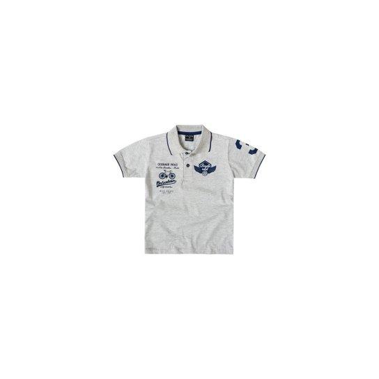1bd154c2e7 Camisa Polo Bebê Quimby Masculina - Cinza - Compre Agora