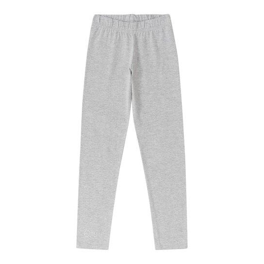 c22f5245f Calça Legging Infantil Cotton Quimby Feminina - Cinza - Compre Agora ...